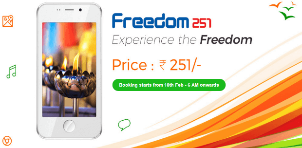 Worlds Cheapest Smartphone Indian Freedom 251