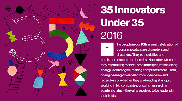 MIT 35 Innovators Under 35 of 2016