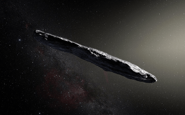 Illustration of Interstellar Asteroid  1I/2017 U1